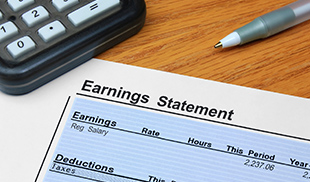 Earnings statement