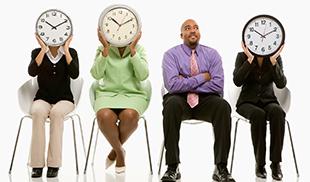 People holding clocks